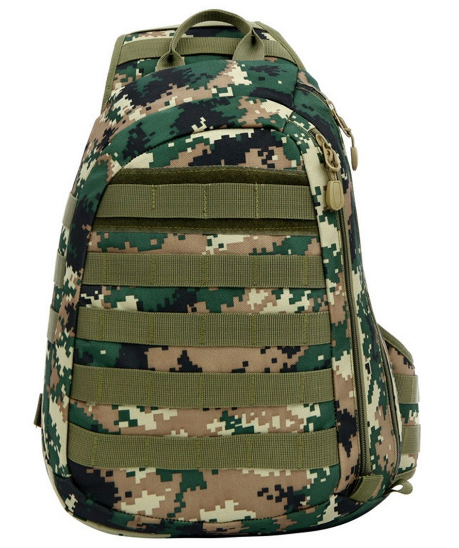 40bcdf0412cb Get Quotations · Panegy Military Sports Bag Camouflage Luggage Tactical One  Shoulder Bag - Jungle Digital Camouflage