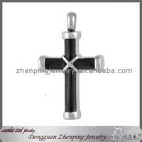 Black Plating Open Stainless Steel Ash Jewelry Wholesale Cremation Keepsake Urn Religious Jesus Cross Prayer Pendant For Funeral
