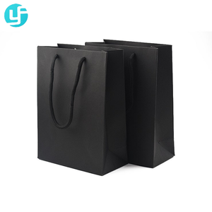 250g high-grade black sir/ madam apparel handle paper bag for suit