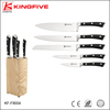Stainless steel 5Cr15 television 6 pcs kitchen knife set KF-F8004