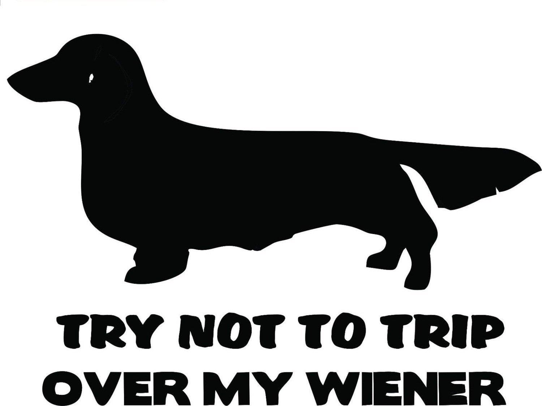 "Dog Funny My Wiener Dachshund Diesel Truck Decal Car Laptop Vinyl Sticker Mac (5.5"" inches (Black)"