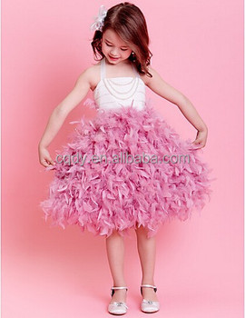 2015 Cheap China Wholesale Kids Clothing Latest Design Baby Frock Wedding  Feather Girl Dress Girl Party Wear Western Dress , Buy Baby Girls Party  Wear