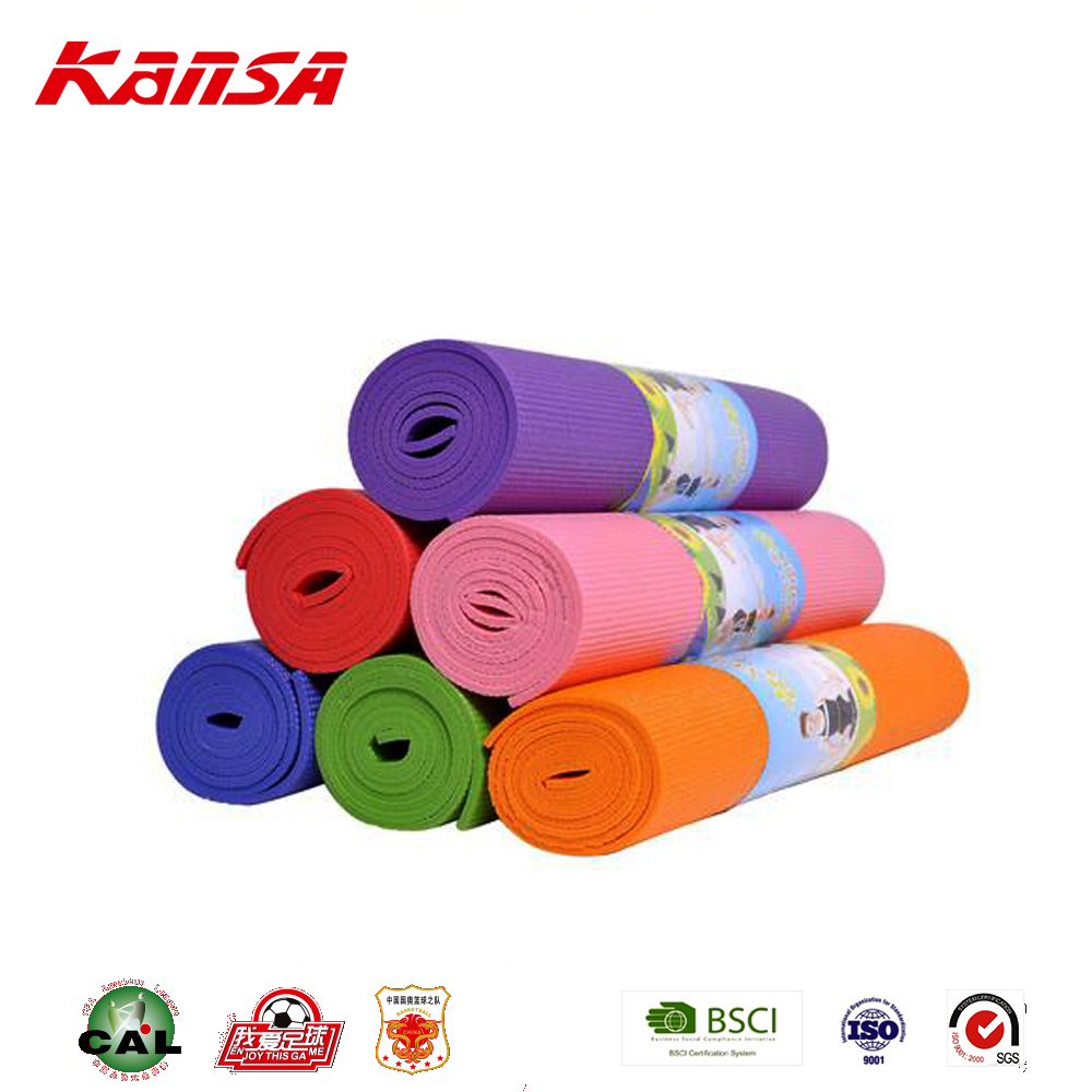 Kansa-0768 Wholesale Soft PVC Foam Yoga Mat Custom Logo Fitness Gym Yoga Mat