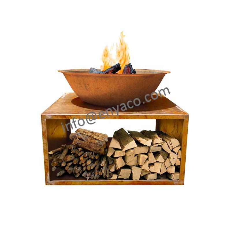 फैक्टरी मूल्य थोक बड़ी आग गड्ढ़े, देहाती उद्यान आग गड्ढे 80cm 100cm 120cm