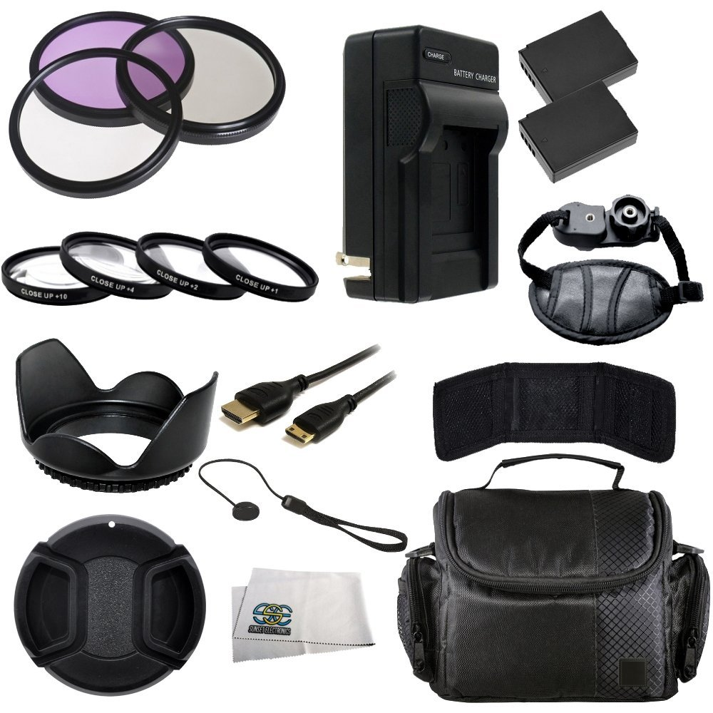 58MM Accessory Kit for Canon T3 and T5 Includes 3 Piece Filter Kit (UV-CPL-FLD) + 4 Piece Macro Filter Kit (+1,+2,+4,+10) + 2 Extended Life Replacement Batteries (LP-E10) + AC/DC Rapid Home & Travel Charger + Mini HDMI Cable + Carrying Case + Hand Strap + Lens Hood + Lens Cap & Keeper + Memory Card