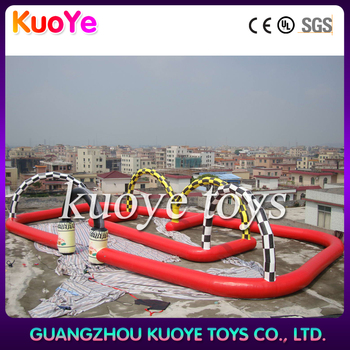 inflatable racing track game,commercial inflatable go kart track,air track inflatable