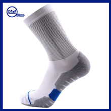 Yhao sock manufacturer good quality professional outdoor sports sock wholesale custom white tube compression sock for man