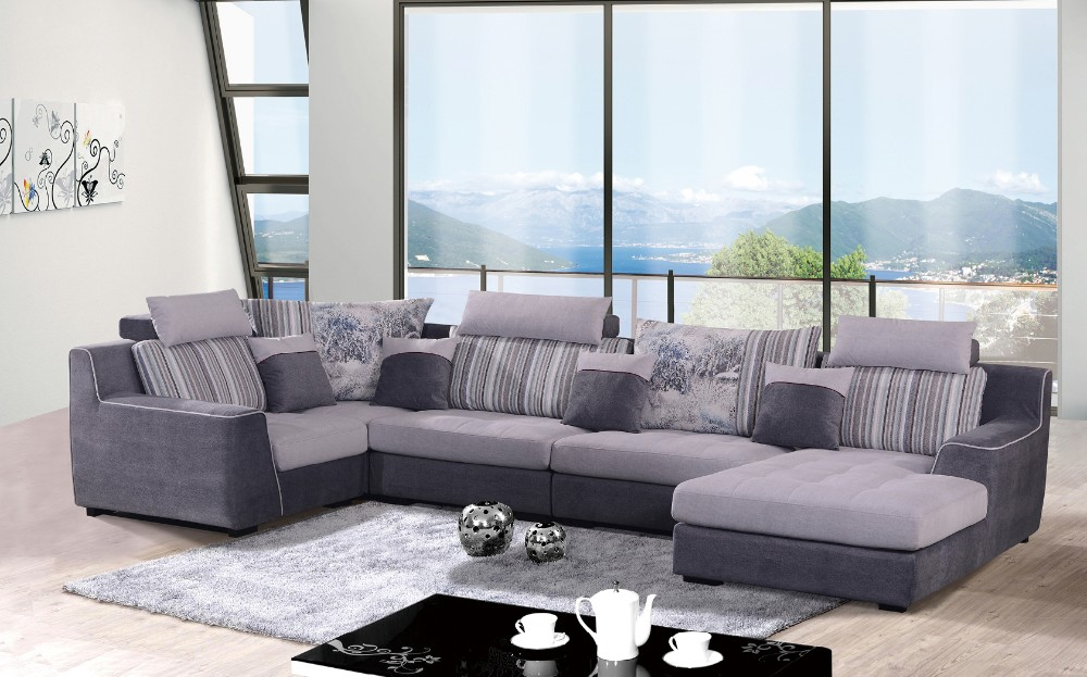 Hot Sale Fabric Color Combinations Cheap Sofa Set Couch 8 Seater