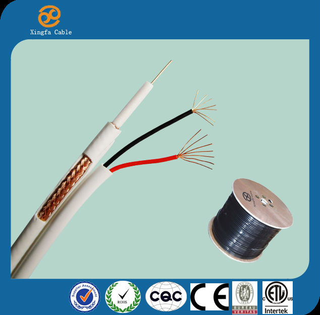 high quality hangzhou Coax Cable RG59 Power coaxial cable with power cctv rg59 siamese premade cctv cable