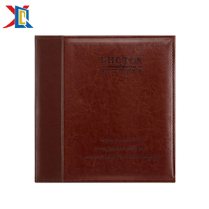 Brown Old Classic 5x5 Leather Cover Bound Photo Album