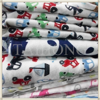 100%Cotton Flannel Fabric for Children's Garments with Animal Printed