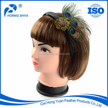 Manufacturers Of Direct Selling World Hot sale BF-202 Natural Peacock Feather Headband
