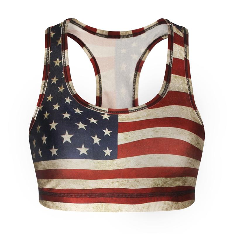 e5e7887f0c High Quality Flex Sportswear Usa Flag Printing Women Yoga Bra Top Tank -  Buy Flex Sportswear