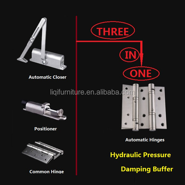 Hydraulic Pressure Automatic Hinges with Damping Buffer Function