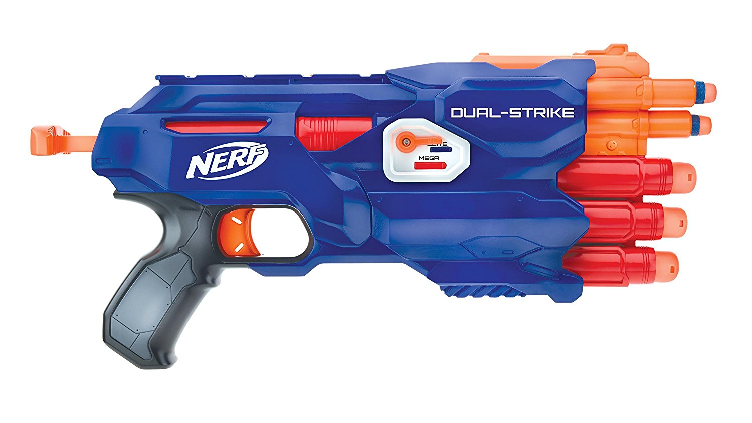 Get Quotations · Nerf Special Edition Dual Strike Elite and Mega Blaster  With Bonus Double Dart Ammo!