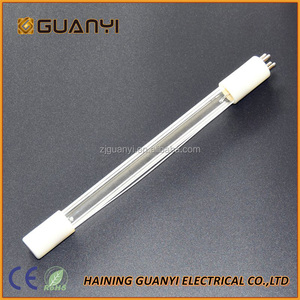GUANYI Single end 4 pins UV Sterilamp tube with 254nm wavelength