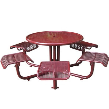 Welded Wire Mesh Outdoor Cafe Table Chair Set Metal Cafe