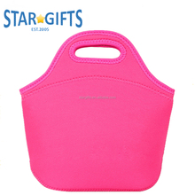 BPA free Thermal Insulated Kids Punched Tote Neoprene Lunch Bag With Custom Logo Printing