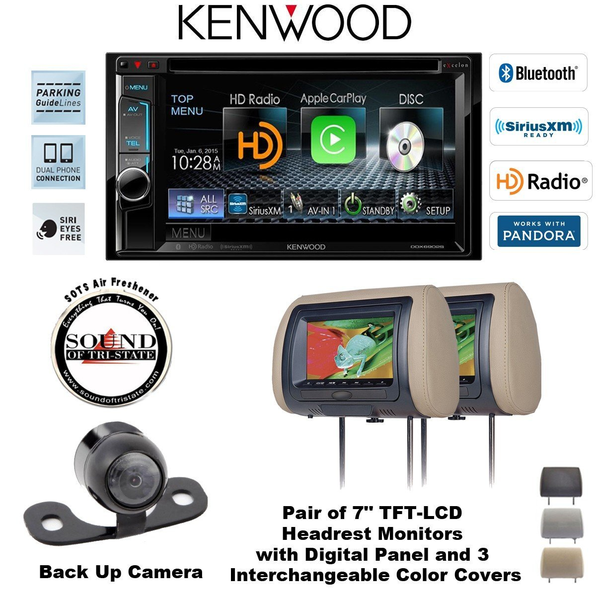 Cheap Kenwood Dvd Double Din Find Deals On Dnx690hd Wiring Diagram Get Quotations Ddx6902s 62 In Dash Receiver With Two Cls700x Concept Headrest Monitors