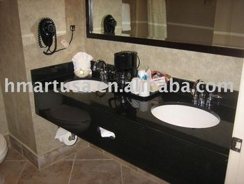 Good High Quality Double Sink Granite Vanity Top