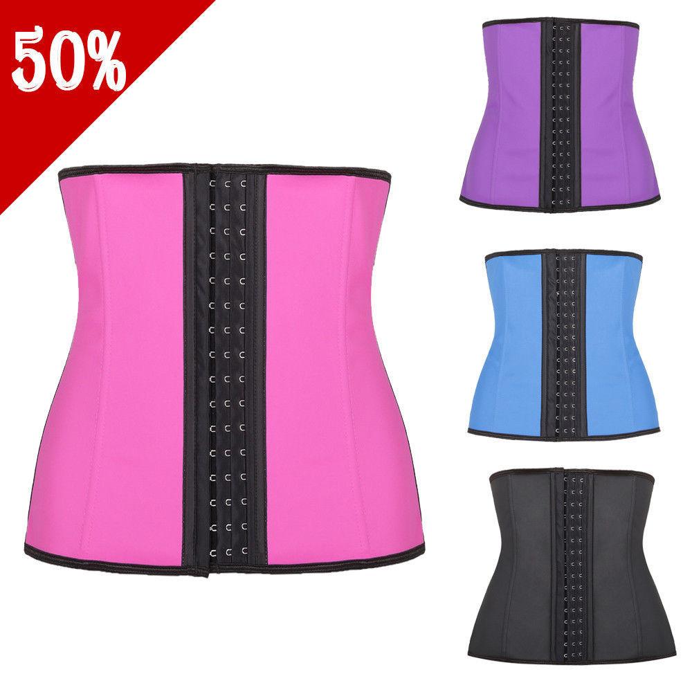 e53bdd360 Latex Vest Waist Cincher Body Shapers Womens Full Body Shape Wear Plus Size  Waist Trainer Steel