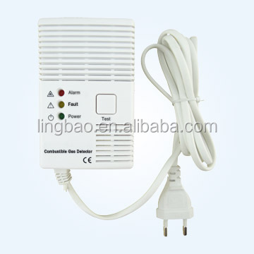 Gas Alarm Detector with CE and Test Button and Power Supply and LED Indicator
