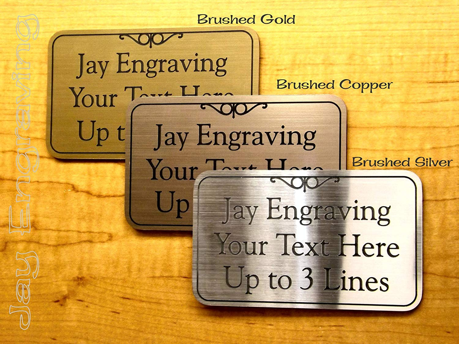 Get Quotations 4x6 Custom Engraved Brushed Metal Plastic Office Suite Sign Name Plate Wall Or Door