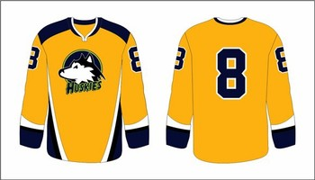Professional Custom Design Hockey Apparel With Sublimation Printing Yellow Color Hockey Jersey Buy Practice Jerseys Hockey Team Usa Hockey