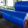 Heated plastic poly tarp fabric in roll
