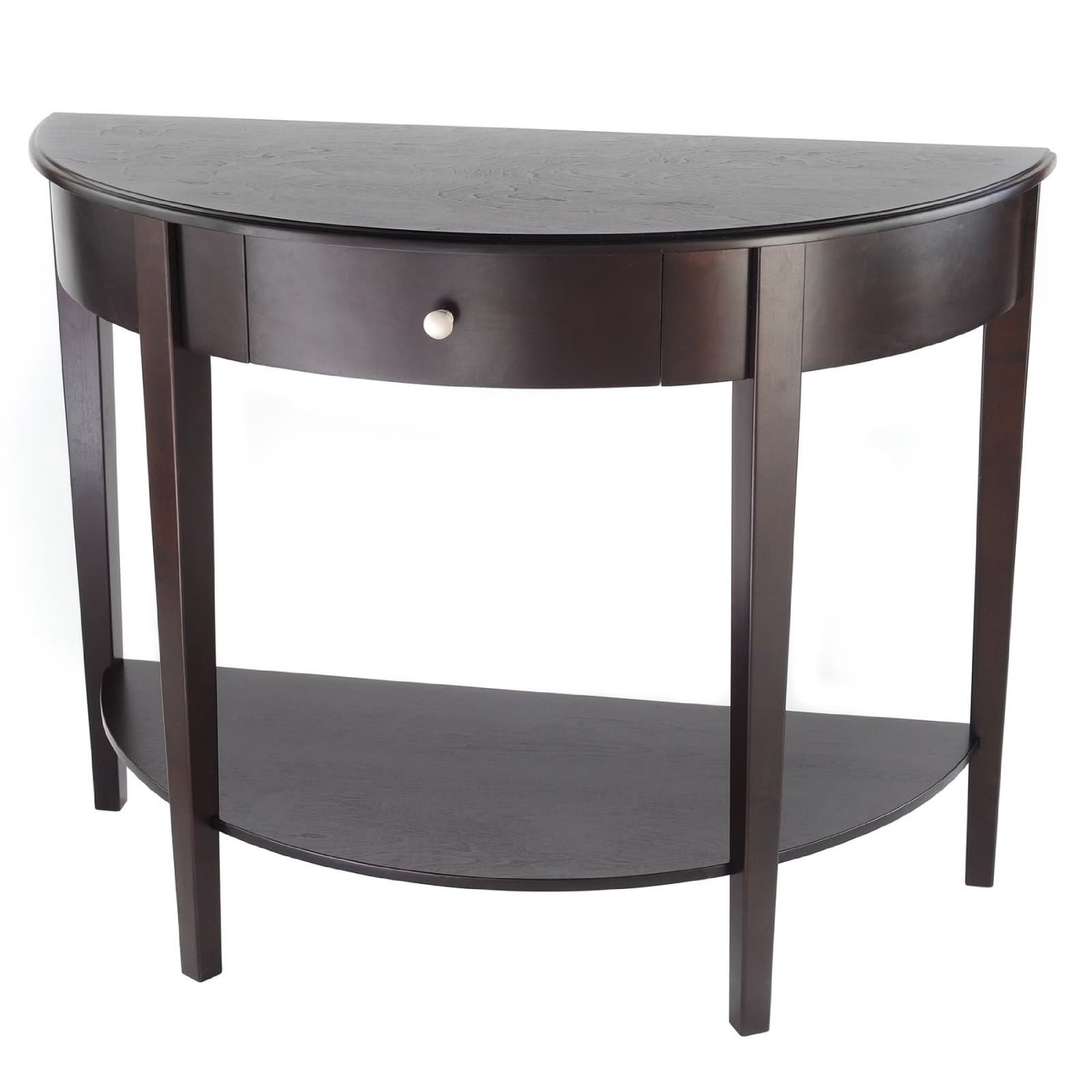 Get Quotations Bay S Collection Large Half Moon Round Hall Table With Drawer Espresso