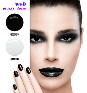Full Eye Contact Lenses Hollywood Luxury Color Contact Lenses Cheap Black Sclera Contacts