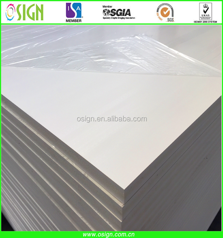 4x8 pvc board 1mm to 25mm black white advertising board self adhesive PVC foam board
