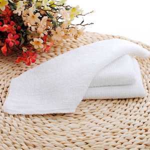 Factory wholesale white square towel small square towel hotel dining room disposable white square cotton face towel