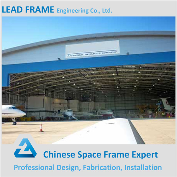 fireproof prefabricated arched metal roofing space frame aircraft hangar