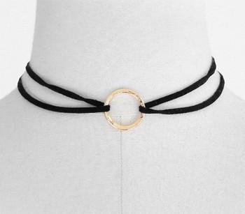 collier ras de cou anneau