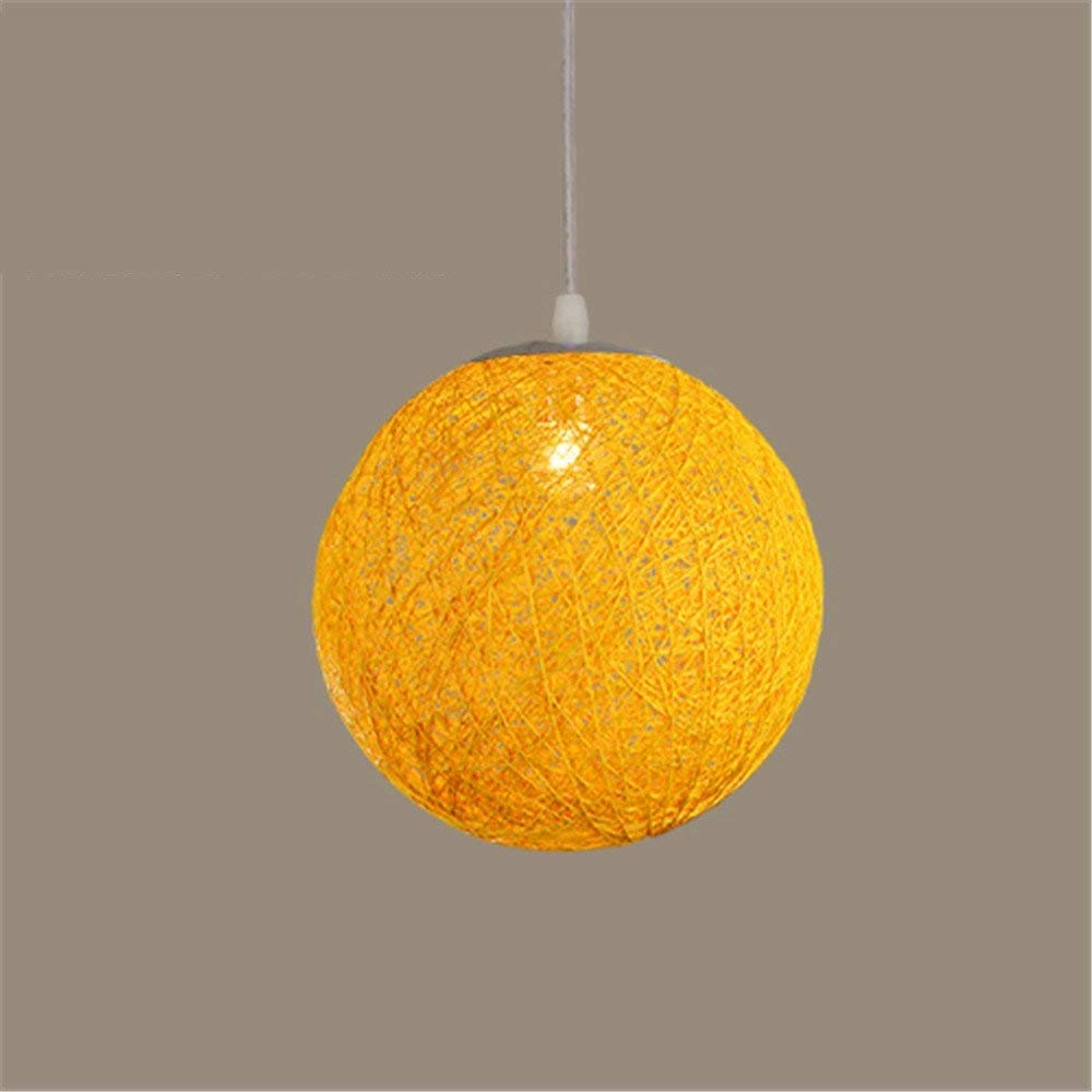 Modern Colorful Ma Rattan Wicker Ball Pendant Light For Christmas Xmas Decoration Party Dining Room Bar E27 Hanging Lighting Pendant Lights Ceiling Lights & Fans