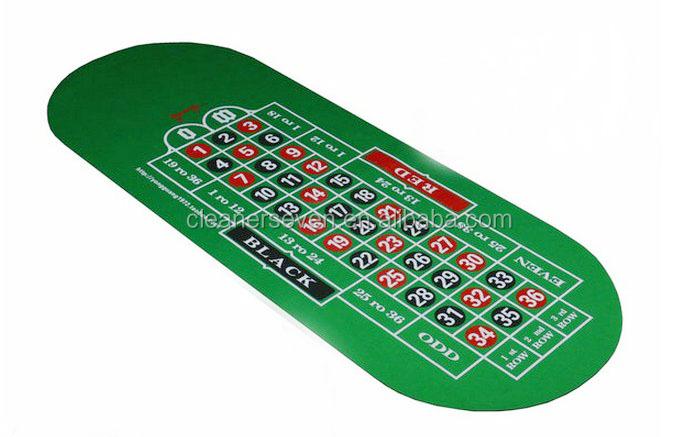 Texas Holdem Poker Table Top Sublimation Rubber Mat, Non Slip Digital Print  Poker Mat