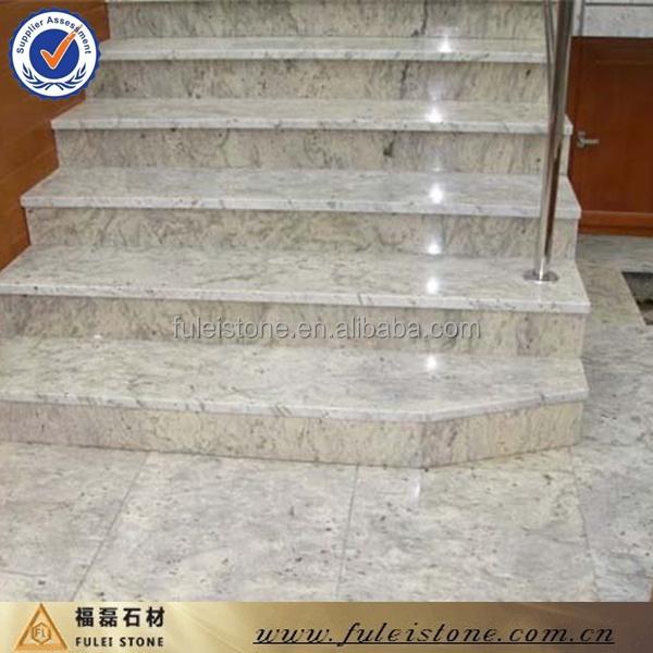 polished indian river white granite stair buy river. Black Bedroom Furniture Sets. Home Design Ideas