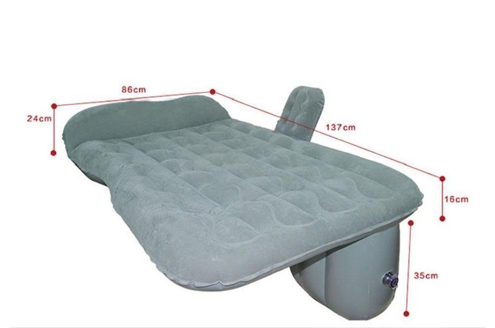 Z9CTHDF25JL Car inflatable cushion/car travel inflatable mattress/flocked bed camping general purpose SUV rear seat extension air sofa