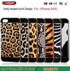 Cheap wholesale factory Outlet tpu cell phone case Beautiful Leopard mobile phone cover for iPhone 5 5s