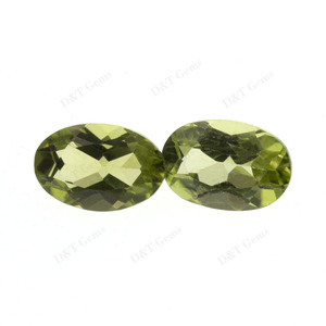 Wholesale supply of quality natural peridot 4x6 oval cut stone semi-precious stone ring inlaid