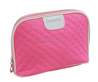 Pink Quilted Cotton Cosmetic Bag
