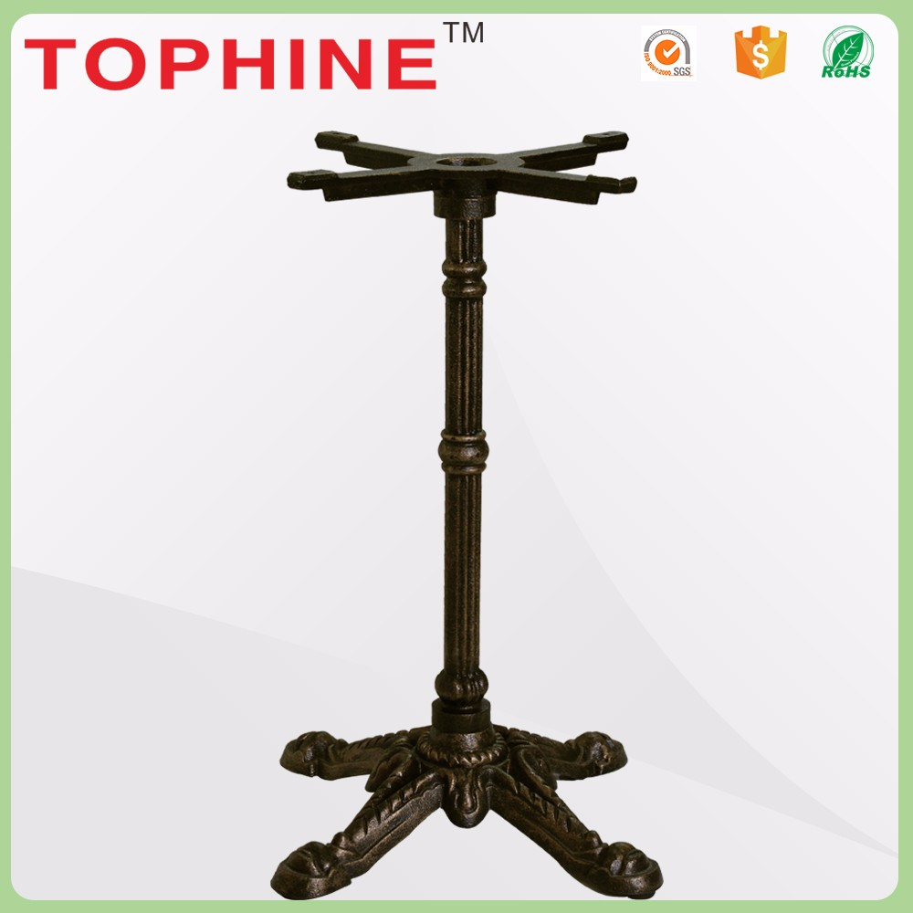 Terse style wrought antique cast iron table base for cafe and bar