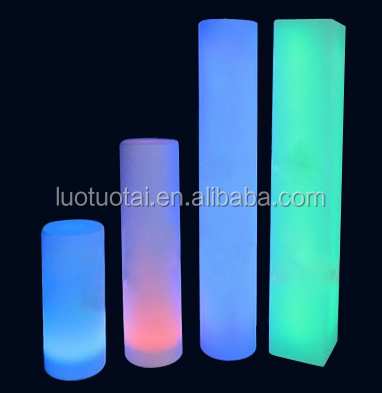 Rechargeable battery operated paty/evet decorative led column