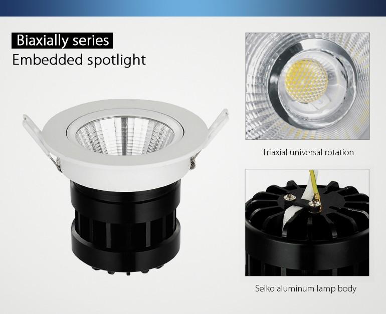 Cri 90 3000k 10w Cob Recessed Led Downlight Use Shop Fitting ...