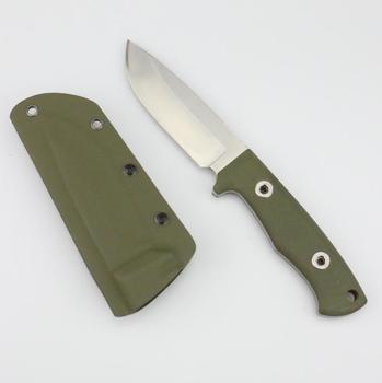 G10 grip and kydex sheath camp and outdoor 440 hunting knife