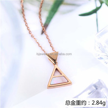 Real 18k gold jewelry set in pure Rose gold pendant wholesale price