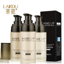 New Brand LAIKOU Makeup Base Face Liquid Foundation BB Cream Concealer Whitening Moisturizer Oil-control Waterproof Maquiagem