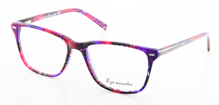 c62e816b1e8 2019 Eye Wonder Fashion Lady s Large Square Colorful Acetate Eye ...