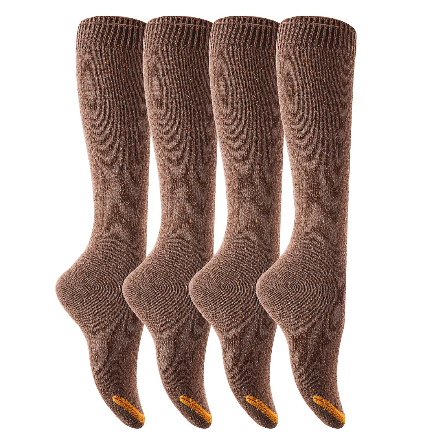 34925790b Get Quotations · Lovely Annie Big Girl s 4 Pairs Pack Knee-High Cotton Boot  Socks H158212 Size L